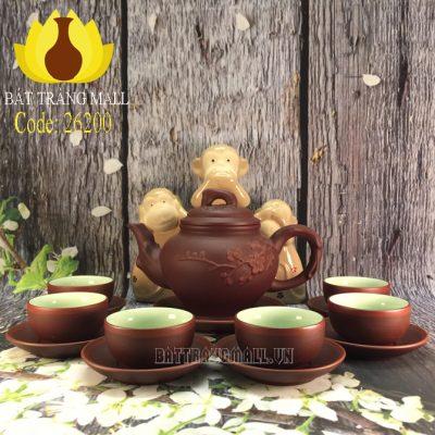 Bộ trà Báo Xuân Cao Gốm Tử Sa