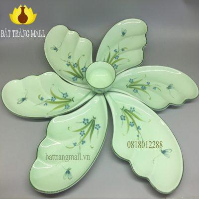 Bộ trang trí món ăn, men xanh, Đào Chuồn.