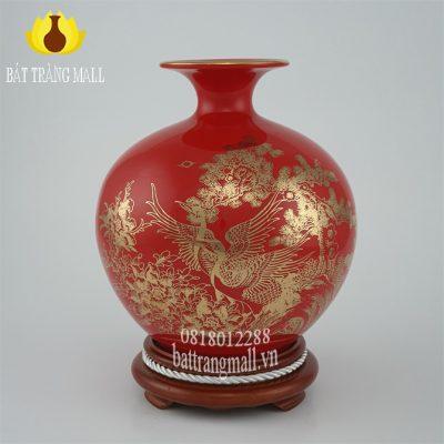 Bình Phú Quý màu đỏ Đắc Lộc Toàn Gia.