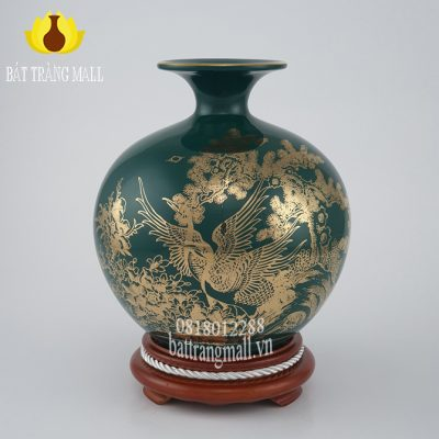Bình Phú Quý Đắc Lộc Toàn Gia vẽ vàng kim.