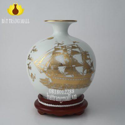 Bình Hút Lộc vẽ vàng kim Thuận Buồm Xuôi Gió