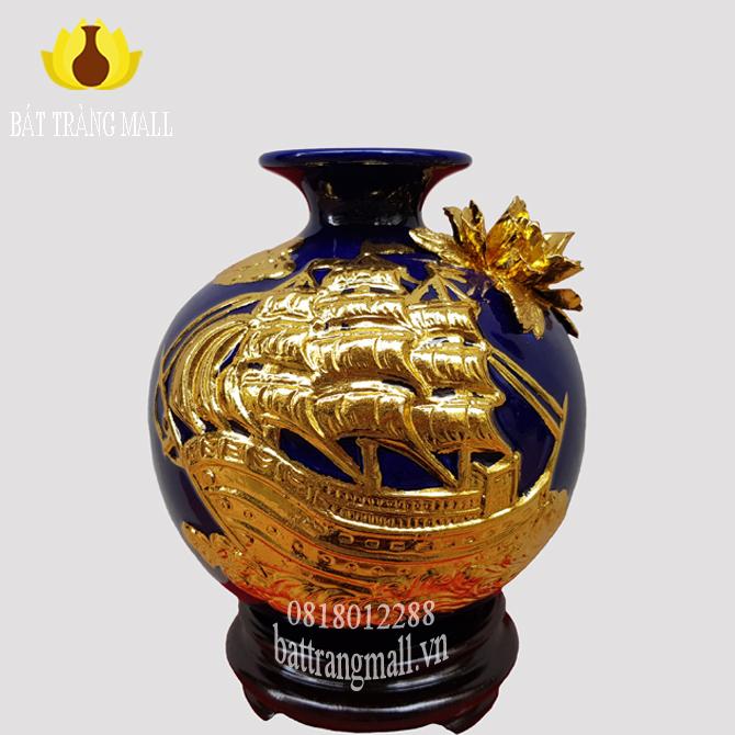 Bình Hút Lộc dát vàng, Thuận Buồm Xuôi Gió H18.